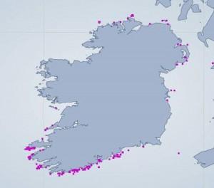 Basking Sightings Map 2011