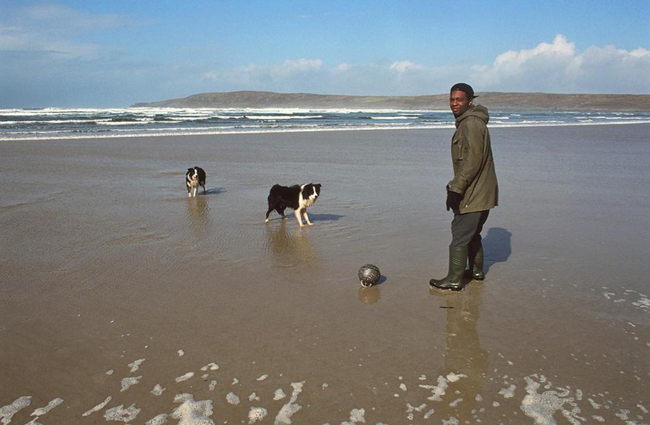 The Urban Birder David Lindo on a Donegal beach