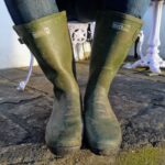 Wearing the Regatta Rivington Wellington Boots