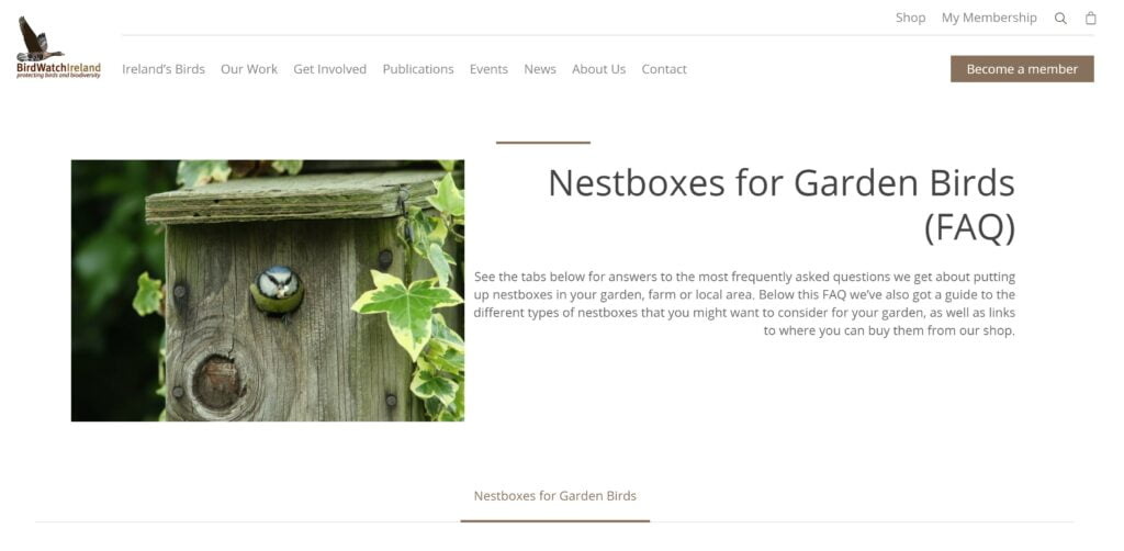 Nestbox Advice from Birdwatch Ireland