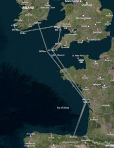Wally the Walrus's incredible journey -- map via the IWDG.